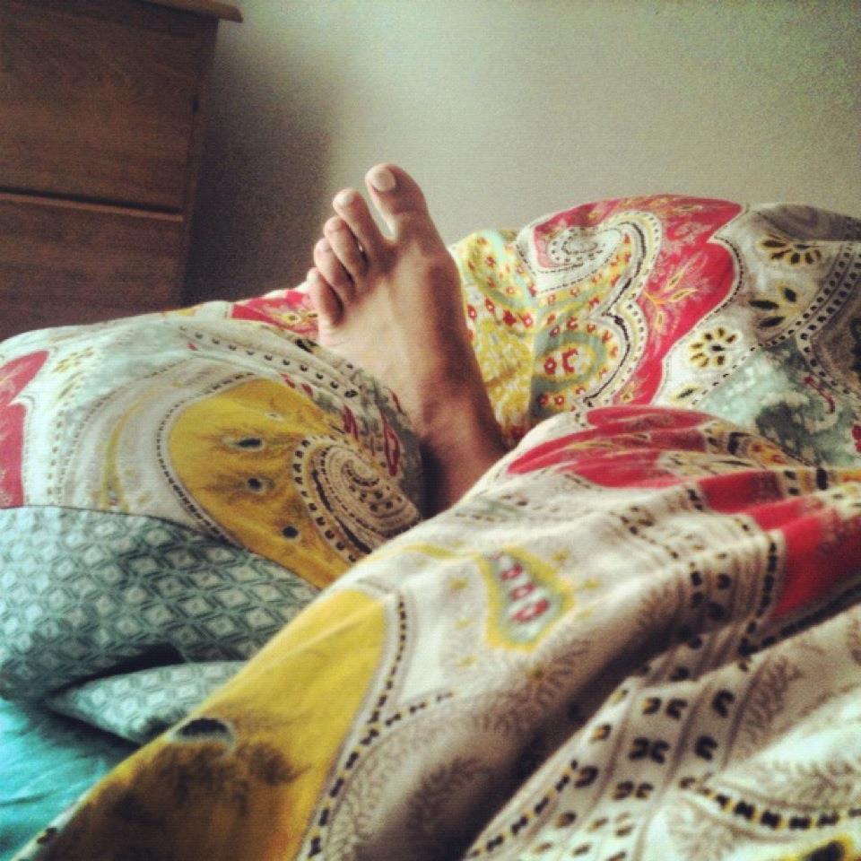 1. in bed til noon