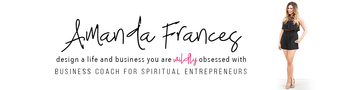 amanda frances | business coach for spiritual entrepreneurs