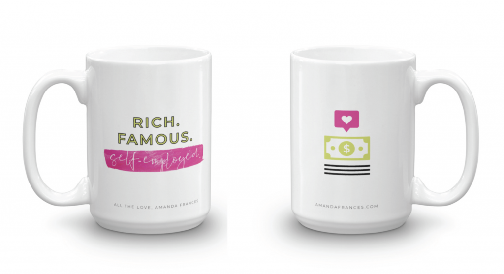 Amanda Frances shop, Amanda Frances mugs, Rich and Famous mug, decoding fame