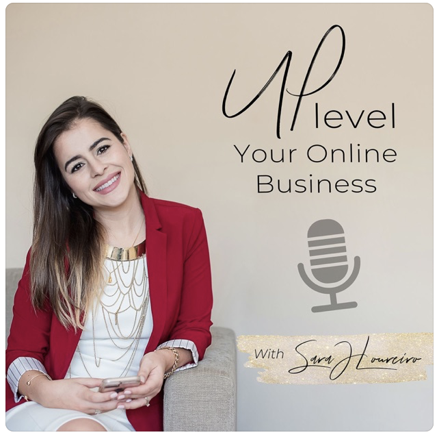 Amanda Frances podcast featured in the up level your online business show and podcast